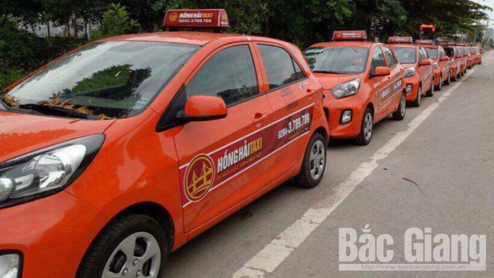 Bắc Giang: Thu hồi phù hiệu của taxi Hồng Hải trong 3 tháng